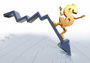 Курс американской валюты падает
